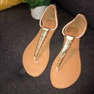 Charlotte Russe Gold Sandals